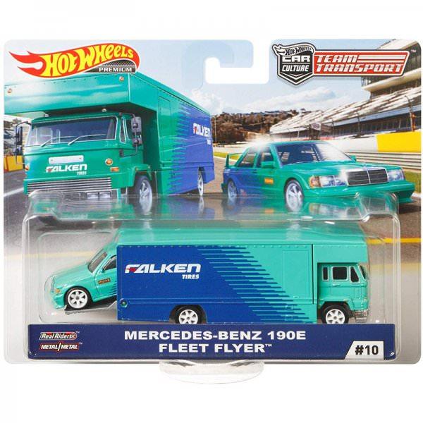 Hot Wheels | Car Culture Team Transport #10 Benz 190E & Fleet Flyer FALKEN