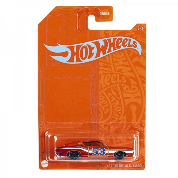 Hot Wheels   Orange & Blue 1969 Ford Torino Talledega