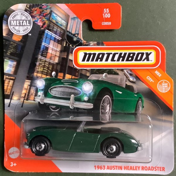 Matchbox | '63 Austin Healey Roadster british racing green
