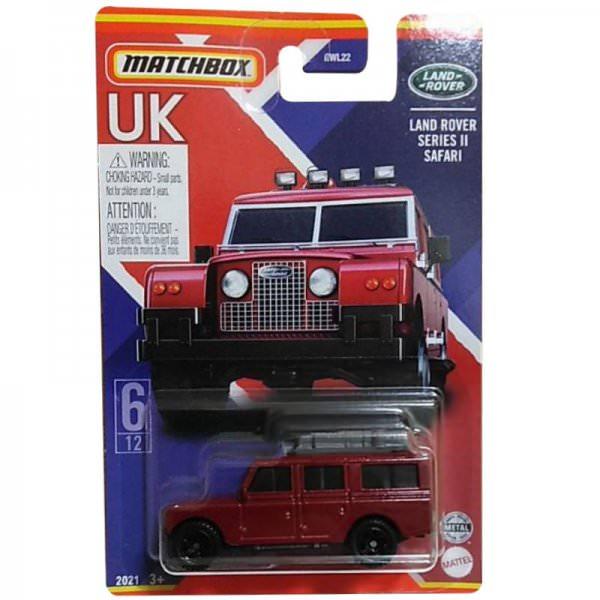 Matchbox | Best of UK Serie Mix 2 06/12 Land Rover Series II Safari dunkelrot