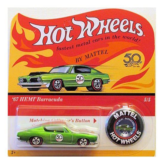 Hot Wheels | 50th Anniversary Originals Series '67 HEMI Barracuda grünmetallic