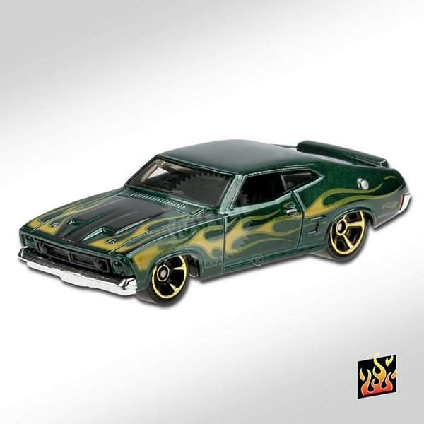 Hot Wheels | '73 Ford Falcon XB green with Flammes