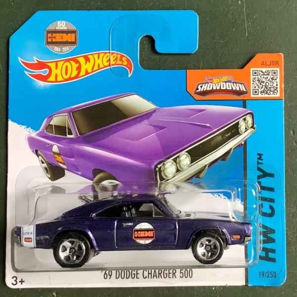 Hot Wheels | '69 Dodge Charger 500 violettmetallc HEMI