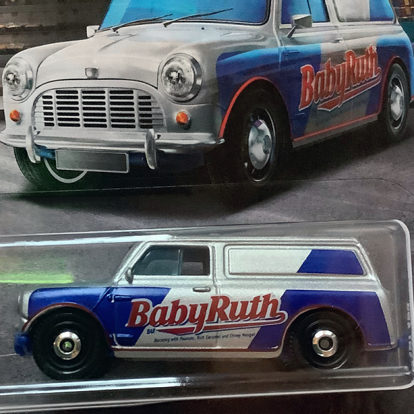 "Matchbox | Austin Mini Van ""Baby Ruth"" Candy Series 2019"