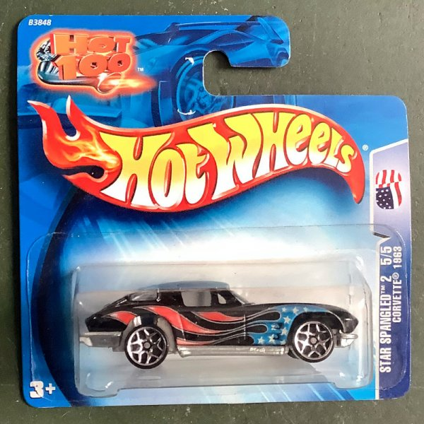 Hot Wheels   Star Spangled 5/5 Corvette 1963 black