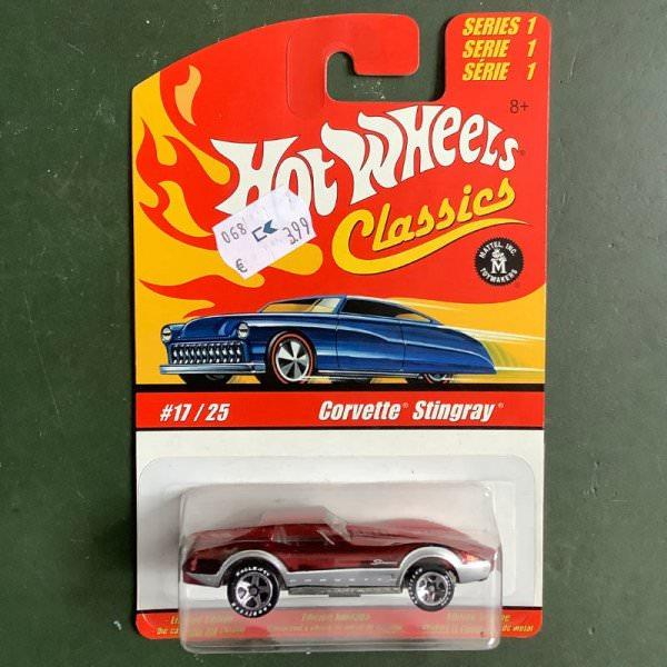 Hot Wheels | Classics Series 1 #17/25 Corvette Stingray red metallic