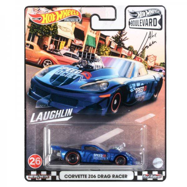 Hot Wheels | Boulevard 26 Corvette Z06 Drag Racer Metalflake Blue