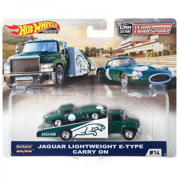 Hot Wheels | Car Culture Team Transport #14 Jaguar Lightweight E-Type & Carry on JAGUAR