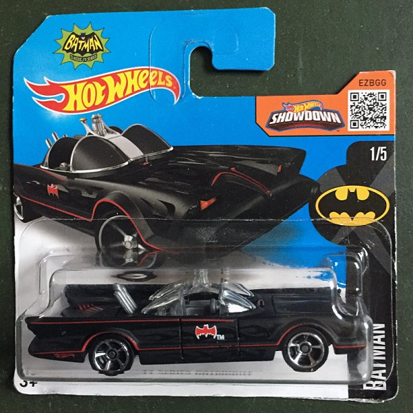 Hot Wheels | TV Series Batmobile, schwarz semimatt, rote Linien