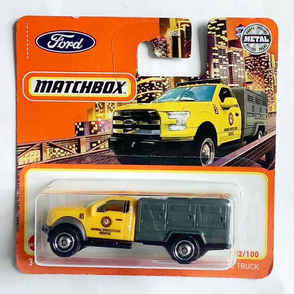 Matchbox   2010 Ford F-150 Animal Control Truck yellow