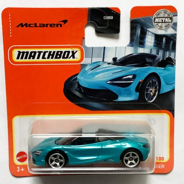 Matchbox | McLaren 720S Spider turquoise blue metallic