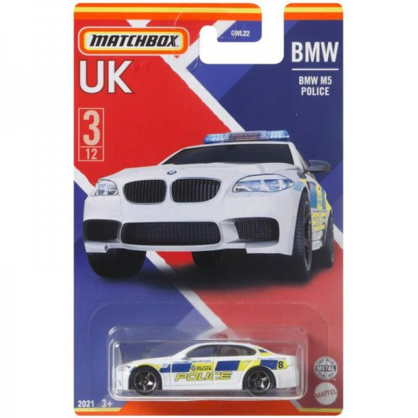 Matchbox | Best of UK Serie Mix 2 03/12 BMW M5 Police weiß