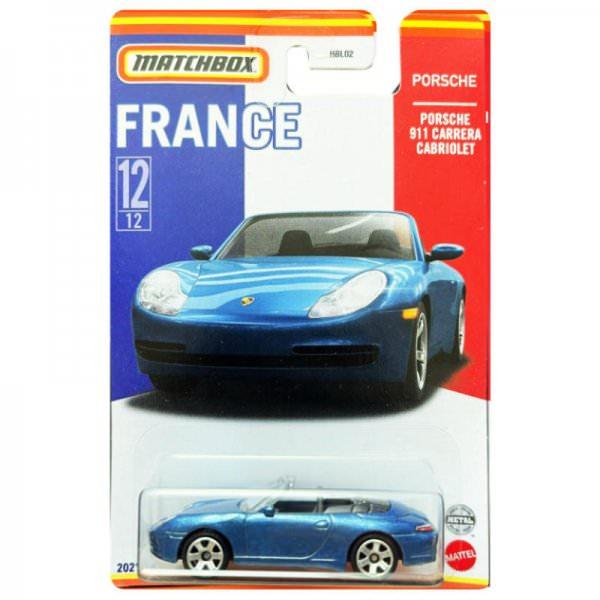 Matchbox | Best of France Serie Mix 1 12/12 Porsche 911 Carrera Cabriolet blau
