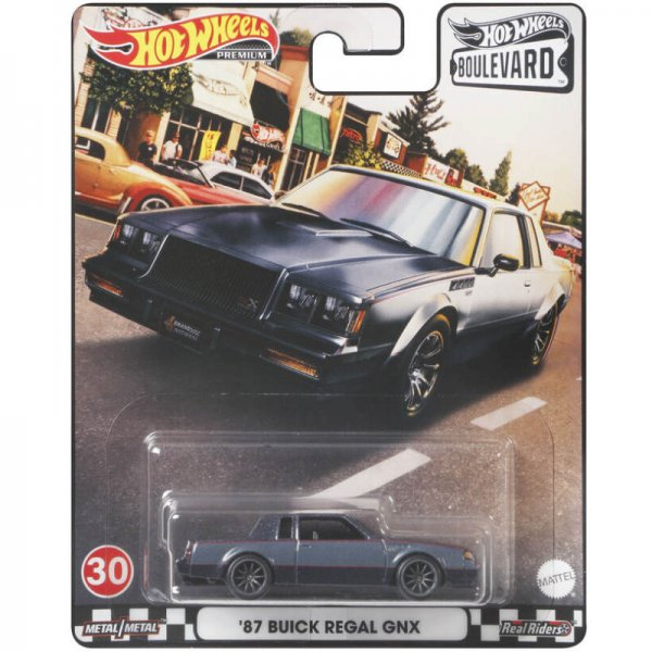 Hot Wheels | Boulevard 30 '87 Buick Regal GNX Metalflake Dark Gray