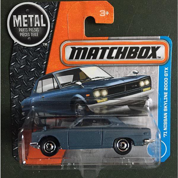 Matchbox | '71 Nissan Skyline 2000 GTX in mattgrau