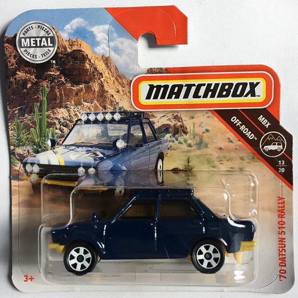 Matchbox | '70 Datsun 510 Rally dunkelblau