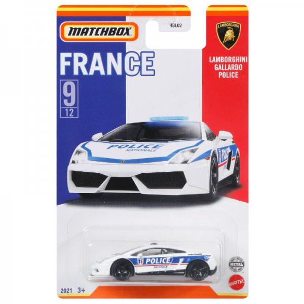 Matchbox | Best of France Serie Mix 1 09/12 Lamborghini Gallardo Police weiß