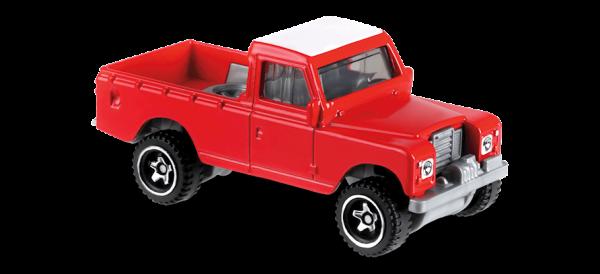 Hot Wheels | Land Rover Series III Pickup rot/weiß