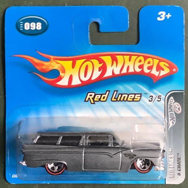 Hot Wheels | Red Lines 8 Crate grey metallic