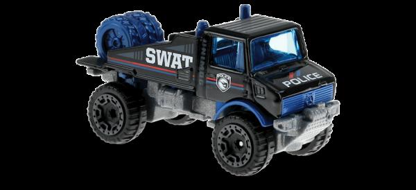 Hot Wheels | Mercedes-Benz Unimog 1300 SWAT POLICE schwarz TH