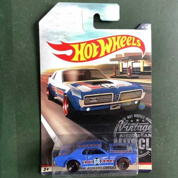 Hot Wheels | 9/10 Vintage American Muscle 1968 Mercury Cougar blue