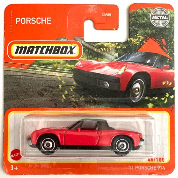 Matchbox   '71 Porsche 914 rot / schwarz