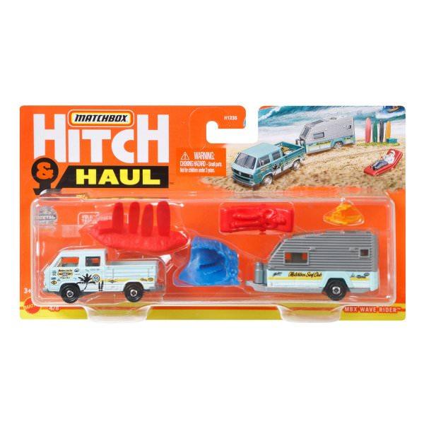 Matchbox   Hitch & Haul 4/8 MBX Wave Rider VW T3 mit Wohnanhänger mit Ladung