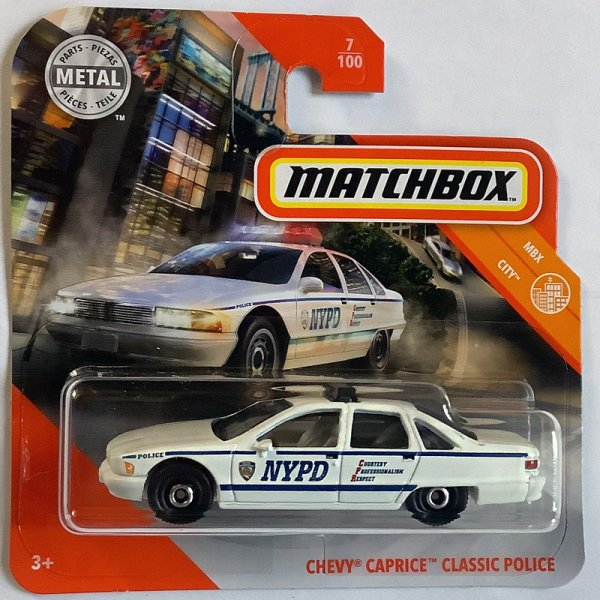 Matchbox | Chevy Caprice Classic NYPD Police weiß