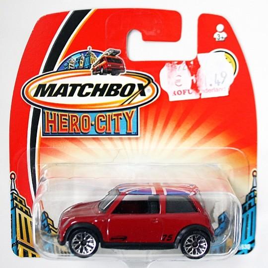 Matchbox | BMW Mini Cooper S rot Hero City