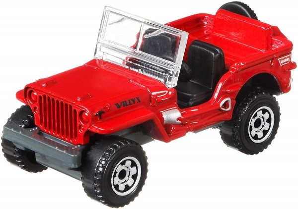 Matchbox   Jeep Willys red