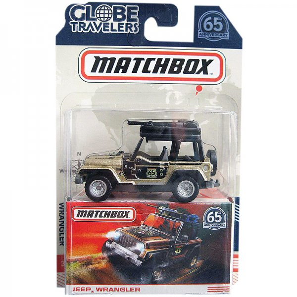 Matchbox | Globe Travelers Jeep Wrangler gold