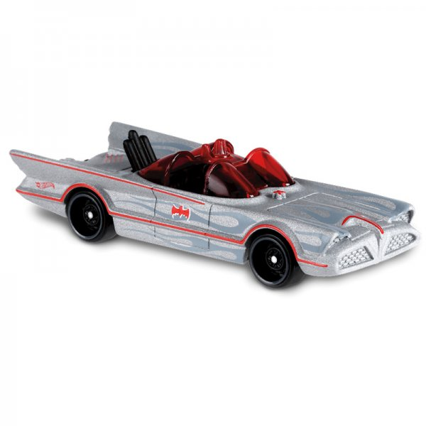 Hot Wheels | TV Series Batmobile, silber semimatt, rote Linien