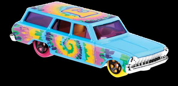 Hot Wheels | '64 Chevy Nova Wagon Art Car light blue