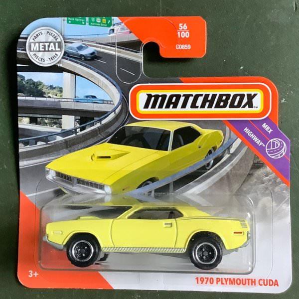 Matchbox | 1970 Plymouth Cuda yellow