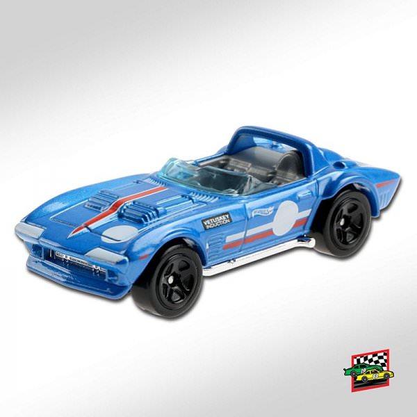 Hot Wheels   Corvette Grand Sport Roadster blue metallic