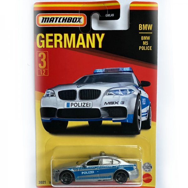 Matchbox   Best of Germany Series Mix 1 3/12 BMW M5 Polizei silver/blue