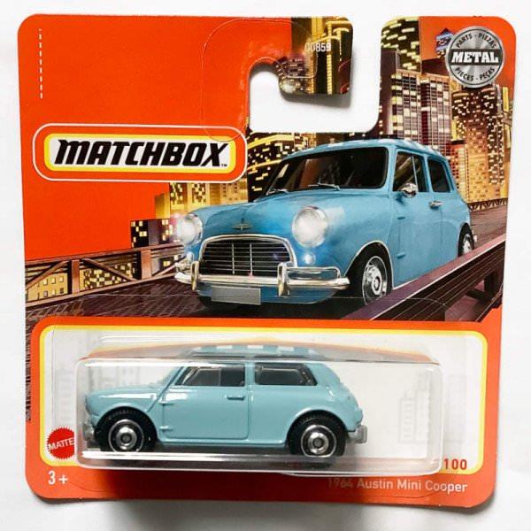 Matchbox | Austin Mini Cooper hellblau mit kariertem Dach