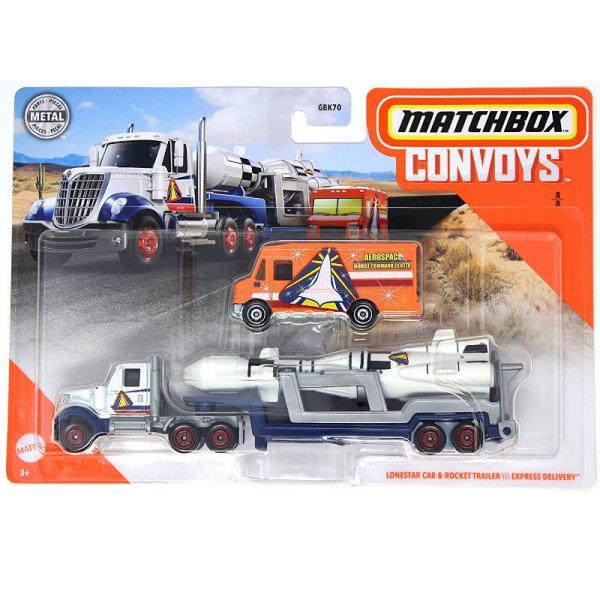 Matchbox | Convoys International LoneStar mit Rocket Trailer und Express Delivery