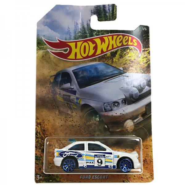 Hot Wheels | Backroad Rally Serie 01 Escort Rally weiß