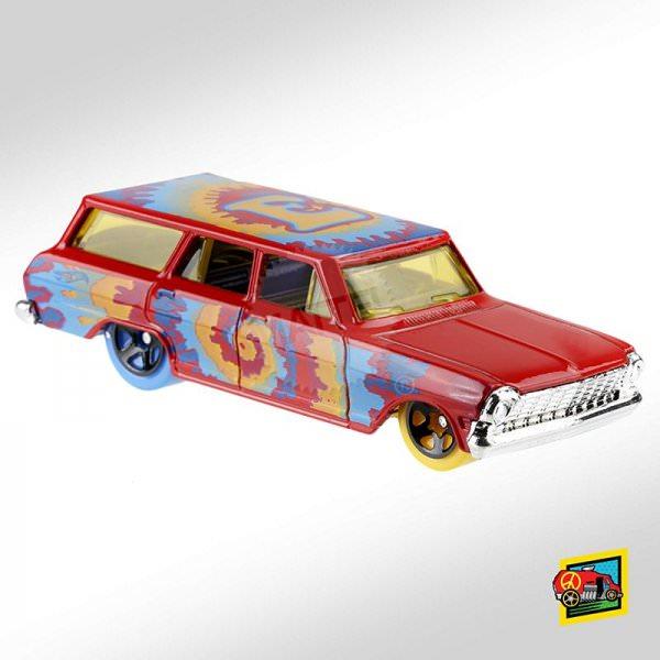 Hot Wheels | '64 Chevy Nova Wagon Art Car red