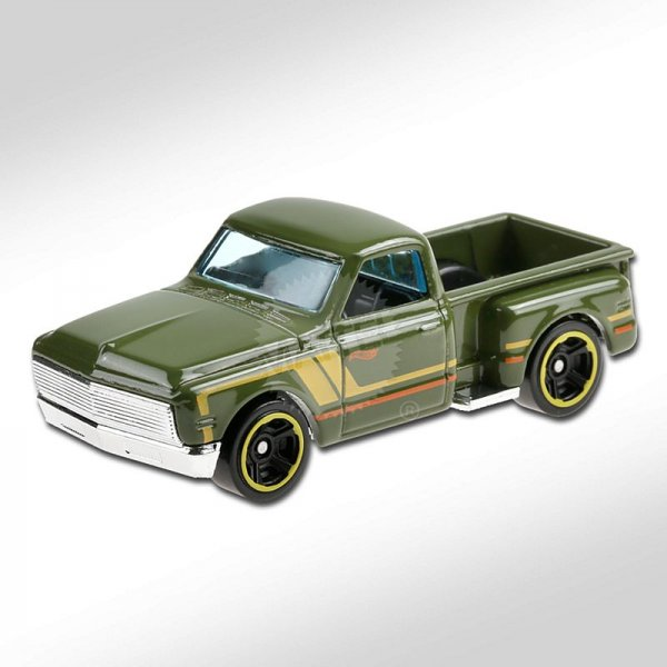 Hot Wheels | '69 Chevy Pickup olive green