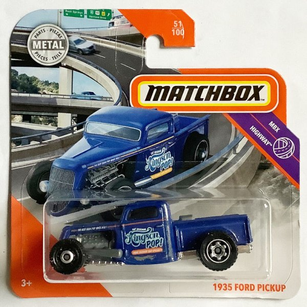 Matchbox | '35 Ford Pickup Hot Rod blau