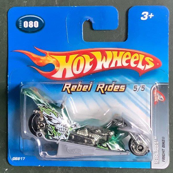 Hot Wheels   Rebel Rides 5/5 Fright Bike green metallic