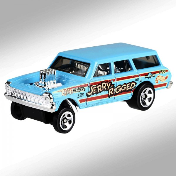 Hot Wheels | '64 Chevy Nova Wagon Gasser JERRY RIGGER turquoise