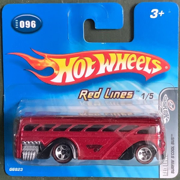 Hot Wheels   Red Lines Surfin S'cool Bus red metallic