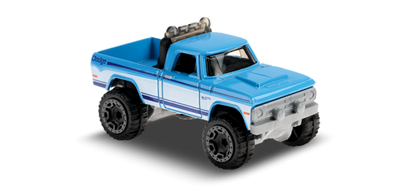 Hot Wheels | '70 Dodge Power Wagon light blue and white