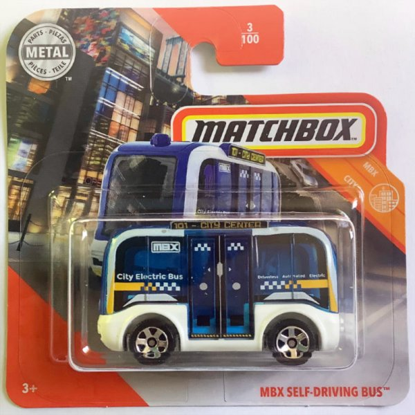 Matchbox | MBX Self-Driving Bus blue & white