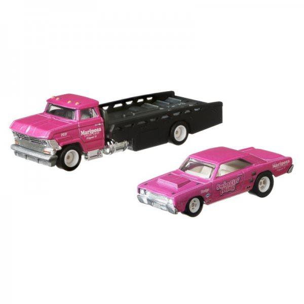"Hot Wheels | Car Culture Team Transport #25 '68 Dodge Dart ""Swing Thing"" & Horizon Hauler pink"