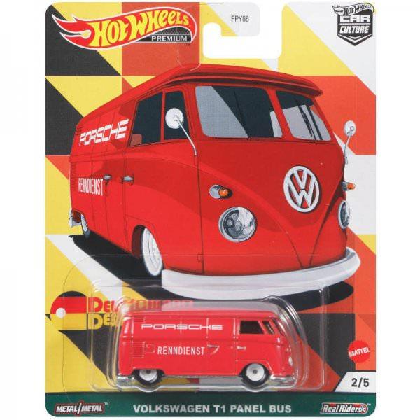 Hot Wheels | Deutschland Design 2/5 Volkswagen T1 Panel Bus PORSCHE RENNDIENST