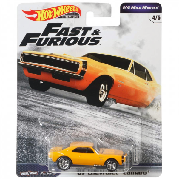 Hot Wheels | Fast & Furious ¼ Mile Muscle 1967 Chevrolet Camaro orange